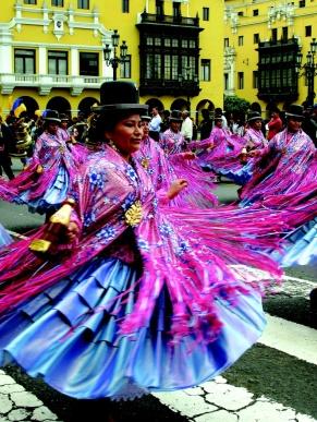 Parade in the Plaza de Armas, Lima